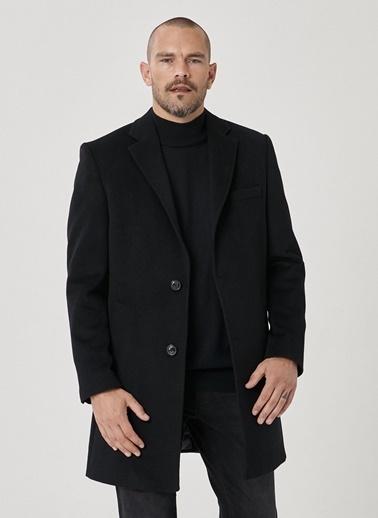 Beymen Business Standart Fit Düz Palto 4B0521100010 Siyah